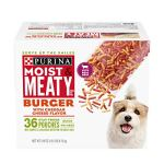 Purina Moist & Meaty Burger with Cheddar Cheese Flavor Adult Dry Dog Food