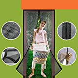Homearda Magnetic Screen Door Fiberglass-New 2019 Upgraded Magnets & Strengthen Top Never Ripped-Durable Fiberglass Mesh Curtain with Weights in Bottom-Full Frame Magic Seal-Fits Door up to 36''x82''