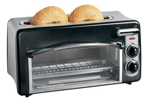 Hamilton Beach Toastation 2-Slice Toaster and Countertop Oven, Black (22708)