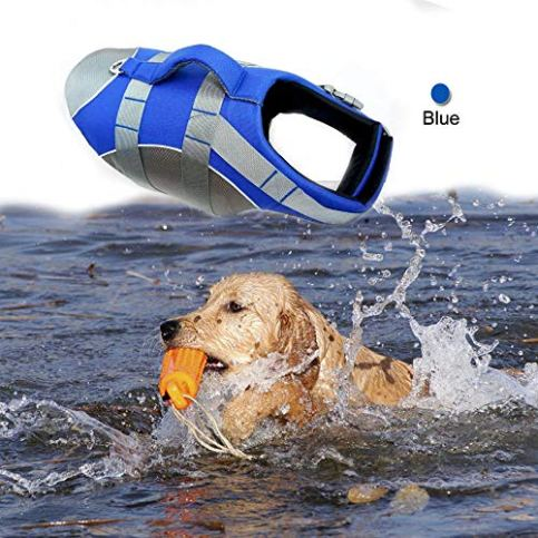 Wave-Riders-Reflective-Dog-LifeJacket-Super-Buoyancy-EVA-Lining-Adjustable-Dog-Safety-Vest-Small-Blue