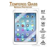 New iPad 9.7 Inch 2018/ iPad Pro 9.7 Inch 2018/ iPad Air 2 / iPad Air Screen Protector Glass MouKou 0.33m 2.5D Round Edge Tempered Glass Screen Protectors