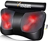 VIKTOR JURGEN Neck Massage Pillow Shiatsu Deep Kneading Shoulder Back and Foot Massager with Heat-Relaxation Gifts for Women/Men/Dad/Mom-FDA Approved