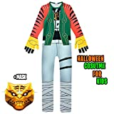 NastyLoot - Halloween Kids Costume Jumpsuit with Mask - Great for Boys Cosplay Party Dress Up (US 11 (145-155 cm))