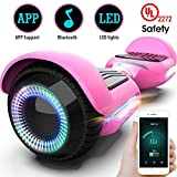 Gyroor T580 Hoverboard Self Balancing Scooter with Music Speaker LED Lights, 6.5 inch Two-Wheel Electric...