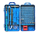 Precision Screwdriver Set, Apsung 110 in 1 Professional Screwdriver set, Multi-function Magnetic Repair Computer Tool Kit Compatible with iPhone/Ipad/Android/Laptop/PC etc (Blue)