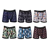 Warriors & Scholars Mens Boxer Briefs 6 Set Multi Pack | Men's No Ride up Underwear Boxers for Men, Youth Assorted(Pack 32), M