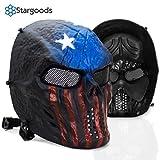 Stargoods Skeleton Airsoft Tactical Mask - Metal Mesh Paintball, BB Gun & CS Games - America
