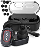 True Wireless Earbuds, Aduro ANX Audio [Unison] Dual Mini True Wireless Stereo Headphones (Noise Isolating) 12.5 Hours Play Time with Charging Case, 4 Extra Eargels Sizes