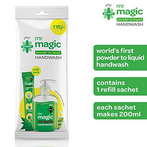 51Vi9jWm5SL - Godrej Protekt Mr. Magic Powder-to-Liquid Handwash Refill, (makes 200ml)