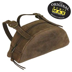 TrailMax Leather Pommel Pocket Horse Saddle Bag For Western Or Endurance Saddle, Premium Leather with Brass Buckles…