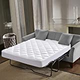 Everest Supply Premium Mattress PAD Hypoallergenic,Quilted Mattress Topper, DEEP Pocket, Stretch to FIT Skirt, Microfiber, Anchor Bands(15 OZ Per Sq Yd-Queen Sofa PAD -60x72+12')