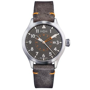 Davosa Automatic Swiss Wrist Watch - Analog Waterproof Neoteric Pilot Watch for Men Swiss Made Wristwatch with Leather Strap Band Bracelet