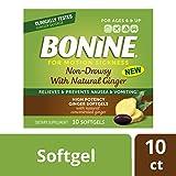 Bonine Ginger Motion Sickness Relief Softgels - 10 ct