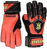 Varzist Goalkeeper Gloves Brine King Match 3X Soccer Goalie Glove Finger Save Protection Spines (Hi Lite/Vivid Cactus, 7)