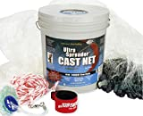 FITEC Ultra Spreader Clear Fishing Cast Net, 3/8-Inch X 10-Feet