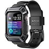 SUPCASE [Unicorn Beetle Pro] Case for Apple Watch 4, 40mm 2018, Rugged Protective Case with Strap Bands for Apple Watch Series 4 40mm (Black)