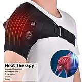 Shoulder Stability Brace Support for Women & Men, Heated Shoulder Wrap Brace, Can Hold Ice Pack, Shoulder Brace Adjustable for Frozen Shoulder Pain, Bursitis, Labrum Tear
