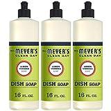 MRS Meyers Liquid Dish Soap, Lemon Verbena, 16 Fluid Ounce (Pack of 3)