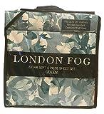 London Fog Green Leaves Pattern Queen Sheet Set, 6 pcs