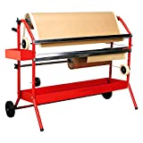 TCP Global Mobile 36' Multi-Roll Masking Paper Machine with Storage Trays - Auto Body Paint & Repair Shop, Car Painting Prep