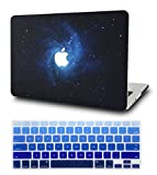 KECC Laptop Case for MacBook Air 13' w/Keyboard Cover Plastic Hard Shell Case A1466/A1369 2 in 1 Bundle (Blue)