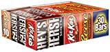 HERSHEY'S Chocolate Bars Valentine's Candy Variety Pack, Milk Chocolate, Milk Chocolate with Almond Bars, KIT KAT Wafer Bars, REESE'S Peanut Butter Cups, Full Size Gift Pack, 30 Count