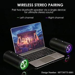 Enceinte-Bluetooth-Portable-COOCHEER-24W-Haut-Parleur-Portable-Bluetooth-avec-lumiere-IP67-Etanche-Haut-parleurs-sans-Fil-Portables-pour-exterieur-TWS-Temps-de-Lecture-superieur-a-20-Heures