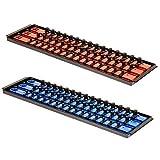 MLTOOLS Socket Organizer | Holds 90 Sockets | Twist Lock Socket Rail with Tray | Multi-Drive Universal Socket Boss Rail Set | Made in USA | T8252 (Blue & Red)