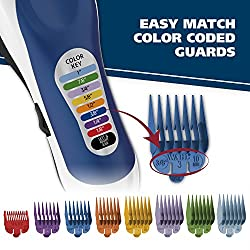 Wahl Color Pro Complete Hair Cutting Kit with Extended Accessories & Cape, Includes Color Coded Guide Combs and Color Coded Hair Length Key, Styling Shears, and Combs for Home Styling,79300-1001  Image 4
