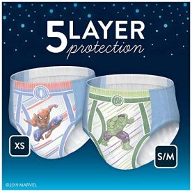 Goodnites Bedwetting Underwear for Boys, X-Small, 44 Ct, Discreet 2
