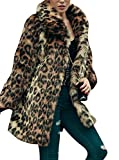 Product review for Comeon Women's Leopard Sexy Faux Fur Jacket Coat Long Sleeve Winter Warm Fluffy Parka Overcoat Outwear Tops