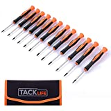 Precision Screwdriver Set Magnetic TACKLIFE 12Pcs Small Screwdriver Set with 1 Storage Bag,Philips, Slot, Torx Star, Professional Repair Tool Kit for Phone/Watch/Jewelry/Eyeglasses/PC/Toys - HSS2A