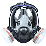 Full Face Respirator Mask with Filters Similar For 6800 Masks Organic Vapors N95 Level Silicone Respirator Mask for Painting, Chemicals,Pesticide