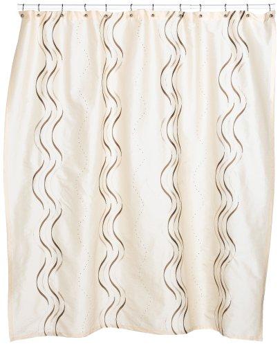 CROSCILL Dante Embroidered Shower Curtain, Champagne