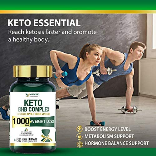 Keto Pills, 60 Capsules Fat Burner & Weight Loss BHB Supplement Formula Keto Burn Diet Pills, Women Men Appetite Suppressant Increases Energy Support, 30 Day Supply 2