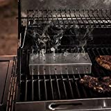 m·kvfa Outdoor BBQ Products Stainless Steel Smoker Box BBQ Stainless Steel Smoke Box Easy Safety and Tasty Smoking Perfect for Tailgating Camping or Any Outdoor Event