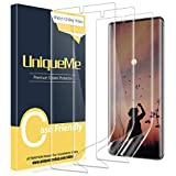 [3 PACK] UniqueMe Screen Protector for Samsung Galaxy Note 10 Plus /Samsung Galaxy Note 10+ /Note 10 Plus 5G ,TPU Clear Soft Film [ Case Friendly] Touch Sensitive with Lifetime Replacement Warranty