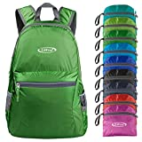 G4Free Ultra Lightweight Packable Backpack Travel Hiking Daypack Small Handy Foldable Water Resistant Camping Outdoor Little Bag (Army Green)