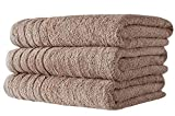 SALBAKOS Oversized Bath Towels Barnum Collection - Turkish Luxury Hotel & Spa Quality 30'x56' Oversize Bath Towels 100% Combed Cotton, Eco-Friendly (Set of 3, Beige)