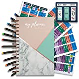 2019 Planner - Weekly Monthly Planner with pens and Stickers - Goals and Productivity Planner - Busy Bee Planners