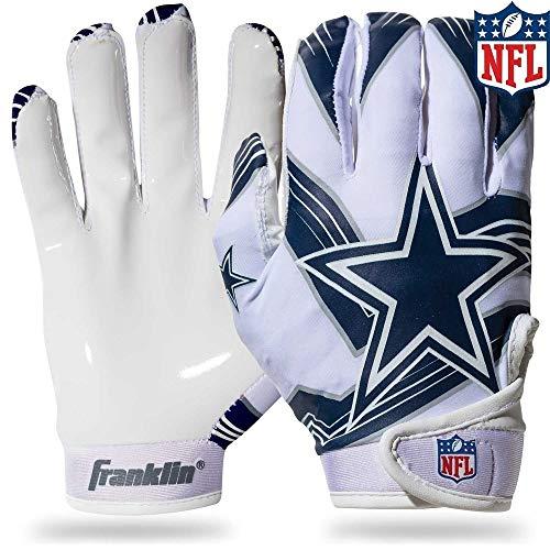 NFL Dallas Cowboys Youth Receiver Gloves,White,Medium