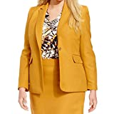 Product review for Tahari ASL Womens Plus Galina Linen Blend Notch Collar One-Button Blazer