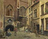 Oil Painting 'Piet Verhaert,The Old Antwerp Butcher Hall,1852-1908', 8 x 10 inch / 20 x 25 cm , on High Definition HD canvas prints is for Gifts And Dining Room, Game Room And Home Office Decoration