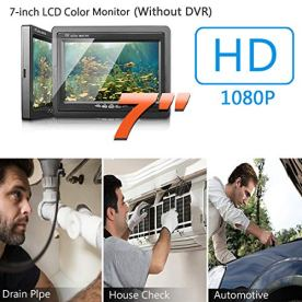 Sewer-Camera-Pipe-Pipeline-Inspection-Waterproof-IP68-Endoscope-20M65FT-HD-1000TVL-Industrial-Plumbing-Snake-CCD-Camera-with-7-inch-LCD-Color-Monitor-Without-DVR