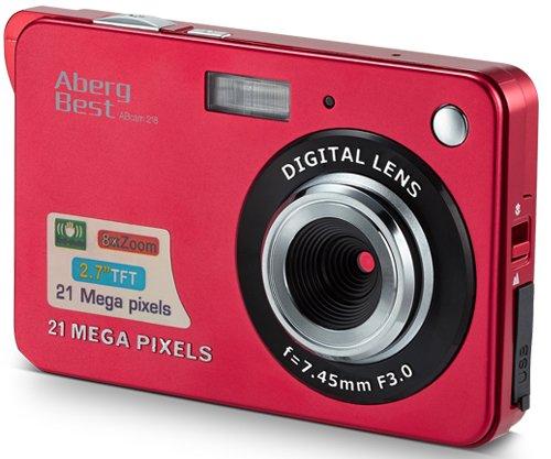 Aberg Best 21 Mega Pixels 2.7' LCD Rechargeable HD Digital Camera Video camera Digital Students cameras,Indoor Outdoor for Adult/Seniors/Kids (Red)