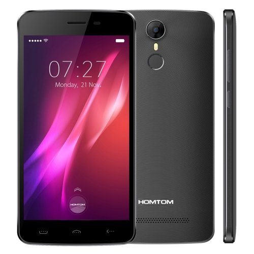 HOMTOM HT27 8GB 5.5 Inch Android 6.0 Smartphone, MTK6580 Quad Core up to 1.3GHz, 1GB RAM GSM & WCDMA (Black)
