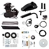 Niome 80cc 2-Stroke Bicycle Gasoline Engine Air-Cooled Motor Kit for Motorized Bicycle Push Bike Black