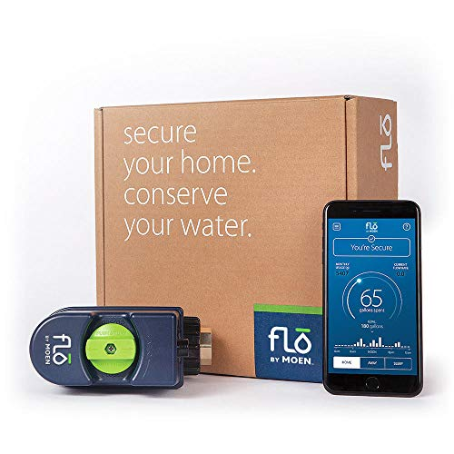 Moen 900-001 Flo Leak Detection Smart Home Water Security System, Alexa-Enabled
