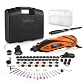 TACKLIFE Rotary Tool Kit Variable Speed with Flex shaft, 80 Accessories and 4 Attachments and Carrying Case, Multi-functional for Around-the-House and Crafting Projects-RTD35ACL