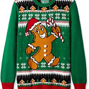 Ugly Christmas Sweater Company Men's Ugly Christmas Sweater-Xmas Gingerbread Man